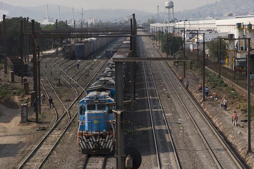 Vias del tren en Cuautitlan.  / Railways in Cuautitlan