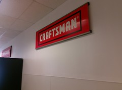 Craftsman wall signage