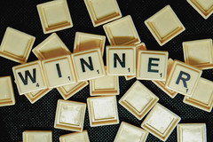 Word winner formed from scrabble