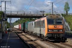 BB26000 SNCF 26191 + BB27000 Akiem 27159 + Wagons Plats