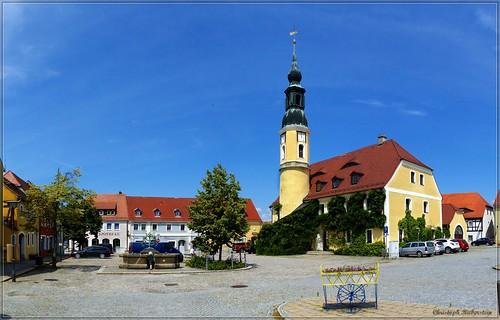 Marktplatz & Rathaus zu Weißenberg (Wóspork)