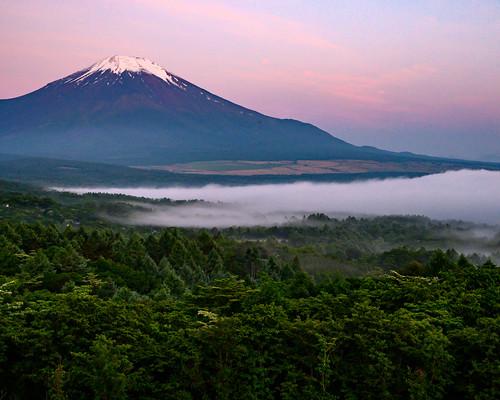 June Fuji at sunrise