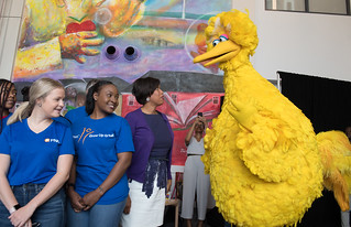 June 07, 2019 MMB Joined Big Bird and Count von Count to Celebrate 50 Years of Sesame Street