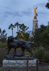 Statue of a big cat, Jardin Albert 1er, Nice, Côte d'Azur, France - Photo of Nice