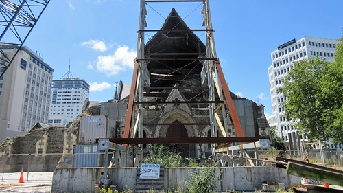 Christchurch, NZ - Cathedral Still in Ruins