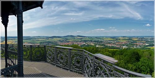 Ausblick vom Löbauer Berg in Richtung Nordwesten