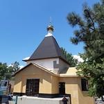 Освящение креста и купола храма святого мученика Вонифатия в Геленджике