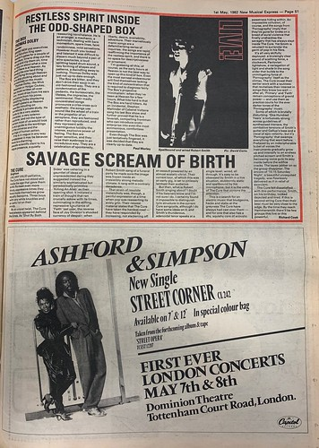 NME, 1 May 1982. #NME  #MyLifeInTheUKMusicPress #1982