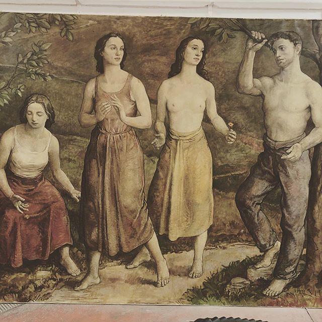 Grande huile sur toile signée Schenk 220x240