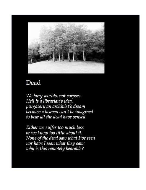Dead, a photopoem