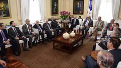 Destacados empresarios de nuestro país realizan visita de cortesía al presidente Danilo Medina