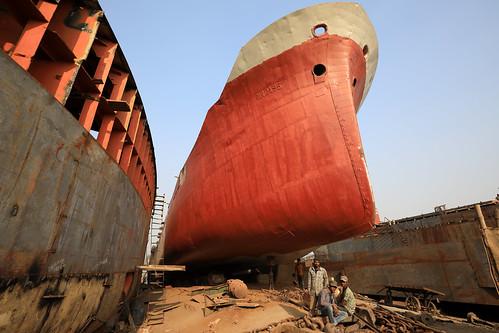 Bangladesh, shipyard in Dhaka