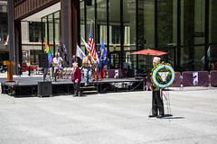 Retrieval of Colors and Procession to the Eternal Flame Salute to LGBT Veterans Chicago Illinois 6-25-19_1289
