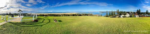 Pilot Hill, Manning River Estuary and Entrance to the Sea, Harrington, Mid North Coast, NSW