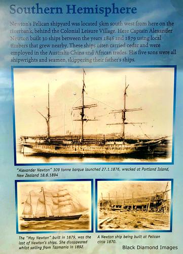 Captain Alexander Newton's Pelican Shipyards 1846 - 1879, Manning River, Harrington, Mid North Coast, NSW