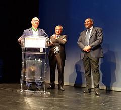 De gauche à droite : Francis Massé, ancien président de la Safer Aquitaine Atlantique, Emmanuel Hyest, Président de la FNSafer, Patrick Amoussou-Adeble, Secrétaire Général des Affaires Régionales de la Nouvelle-Aquitaine - Photo of Chancelade