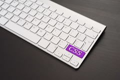 Keyboard With CSS Key In Purple