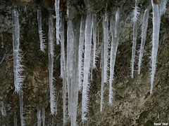 étonnantes concrétions de glace - hiver 2010  - cascade de Rochanon - Bolandoz
