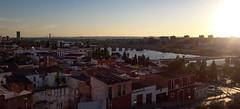 Badajoz al caer el sol