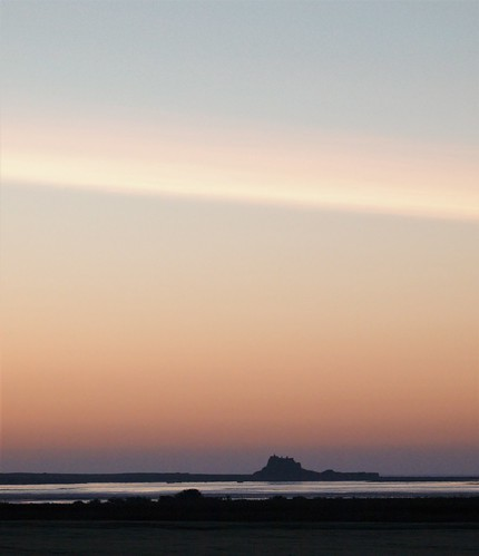 Holy Island and Castle at Daybreak
