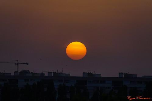 Soleil d'été 21h40 hier soir
