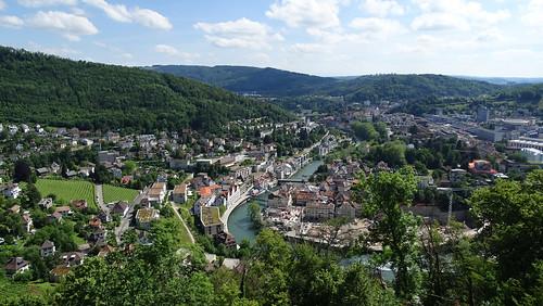 Blick vom Geissberg auf Baden AG