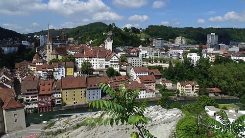 Baden AG Altstadt vom Schartenfels gesehen