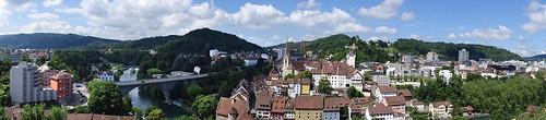 Panoramablick auf Baden AG vom Schartenfels
