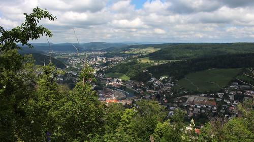 Blick auf Baden AG und Nussbaumen AG vom Kamm des Lägerensattel