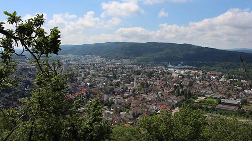 Baden AG von oben
