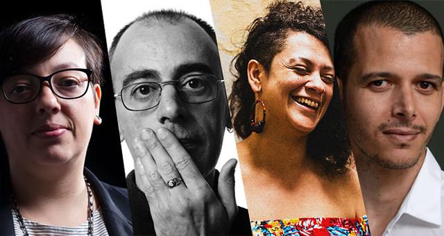 Natalia Borges Polesso, Caio Fernando Abreu, Bárbara Esmênia e Abdellah Taia - Créditos: Arte: José Bruno Lima