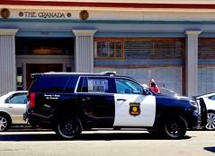 Berkeley Police Chevrolet Tahoe near campus