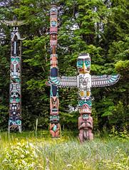 Totem Poles at Brockton Point in Stanley Park