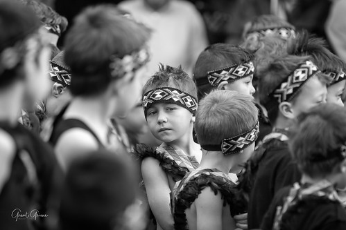 St theresa's School Kapa Haka group performing at the Matariki Festival