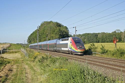 TGV Euroduplex Rame 4712 Train 6831 Metz-Marseille à Valdieu-Lutran