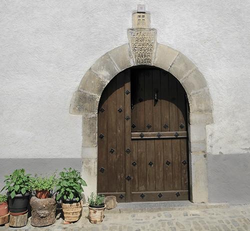 Ave María. Puerta 9, año 1849. ANSÓ. LA JACETANIA. ARAGÓN. SPAIN.
