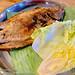 Salt grilled fish