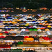 Colourful tents