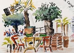 Le café le Cargo au port de Sainte Catherine