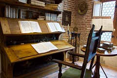 Leonardo da Vinci's desk in his study