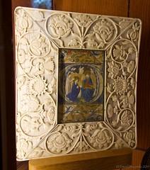 Elaborately carved ivory frame