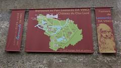 Signs for the Château du Clos Lucé