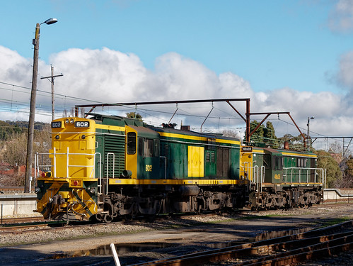 602 and 48s35 in the yard at Lithgow, NSW