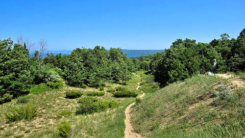 Trail through Arcadia Dunes, Michigan