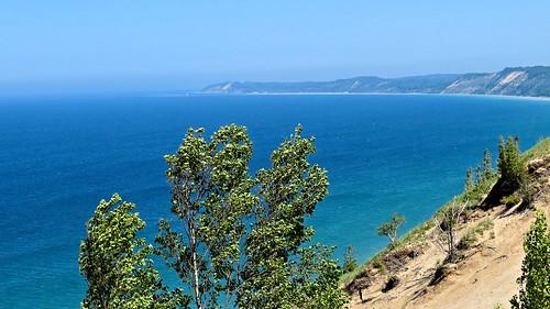 Lake Michigan overlook and shoreline, Arcadia Dunes