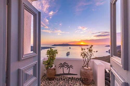 Caldera view of Santorini