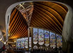 fine art perspective view of the inside of the gorgeous L'église Sainte-Jeanne-d'Arc, (Church of Saint Joan of Arc), Rouen, Seine-Maritime, Normandie, France