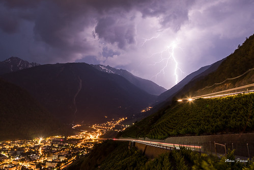Foudre sur les Alpes