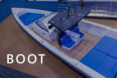 Ausstellung von neuen Bootsmodellen im Rahmen der Boot Düsseldorf