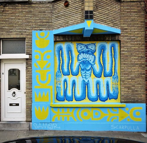 #Ghent update on #streetartcities / #funkymonster by #scarpulla & #samor. . #Gent #streetart #graffiti #urbanart #graffitiart #streetartbelgium #graffitibelgium #visitgent #muralart #streetartlovers #graffitiart_daily #streetarteverywhere #streetart_daily